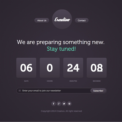 Creativo Free Responsive Website Template
