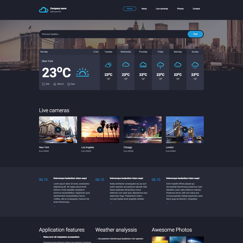 Steel weather free responsive website template for Free responsive website templates