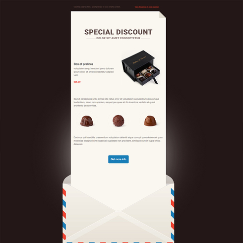 Smooth Chocolate Free Responsive Email Newsletter Template