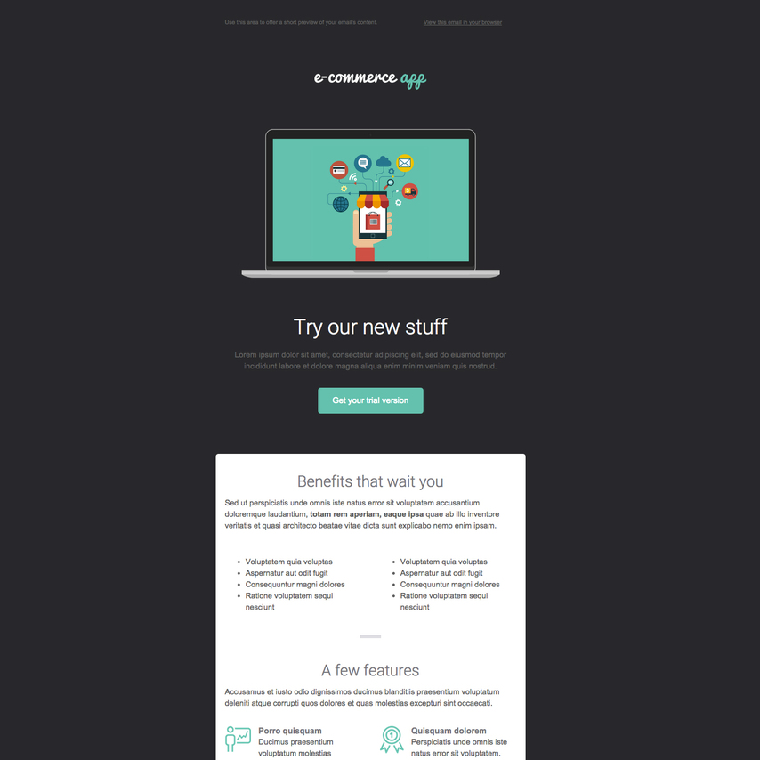 product launch free responsive email newsletter template