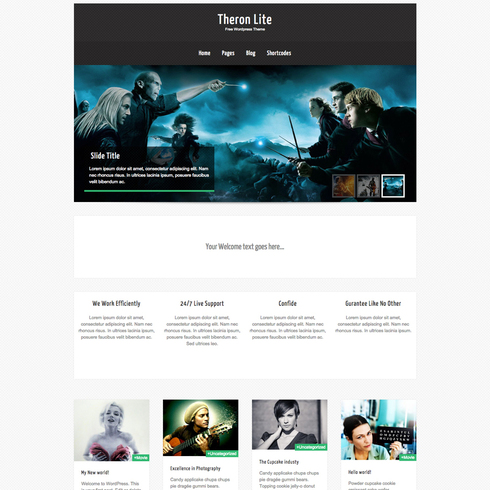 Theron Lite Free Responsive Wordpress Theme