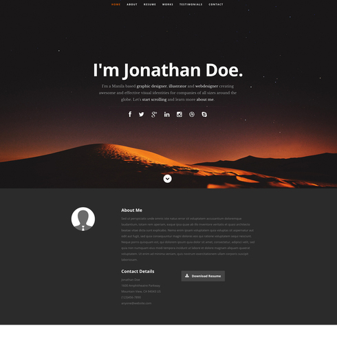 Ceevee Free Responsive Website Template