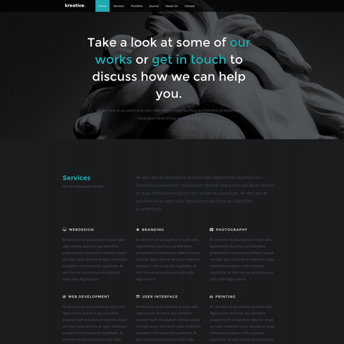 Kreative Design Agency Free Responsive Template