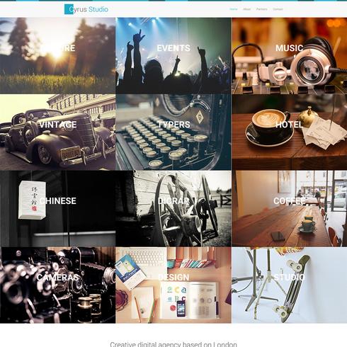 Cyrus Studio Free Bootstrap Responsive Portfolio Template