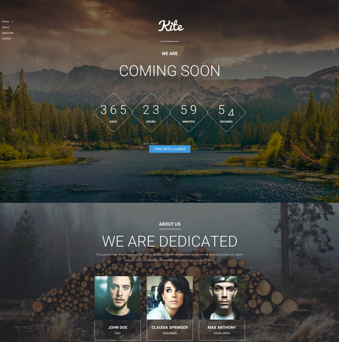 Kite Coming Soon Responsive Bootstrap Template