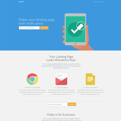 Flatty Responsive Bootstrap Website Template