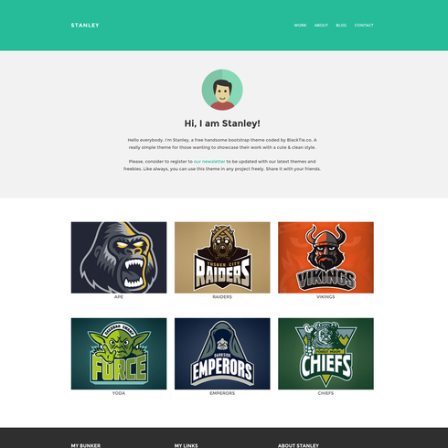 Stanley Freelancer - Responsive Website Template