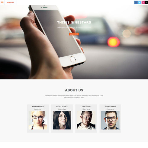 Ninestars - Fully Responsive Website Template