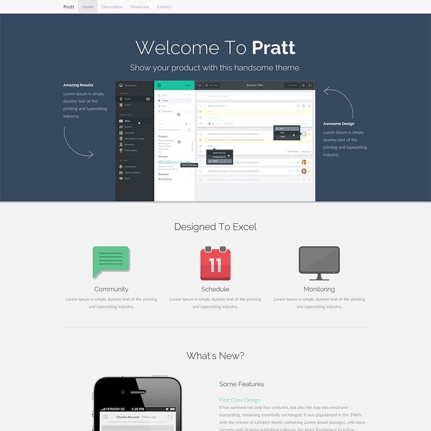 pratt free responsive bootstrap website template. Black Bedroom Furniture Sets. Home Design Ideas