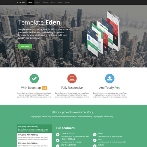 Expose - Responsive Bootstrap Template