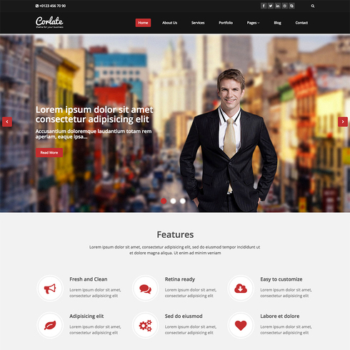 Corlate Free Responsive Bootstrap Template