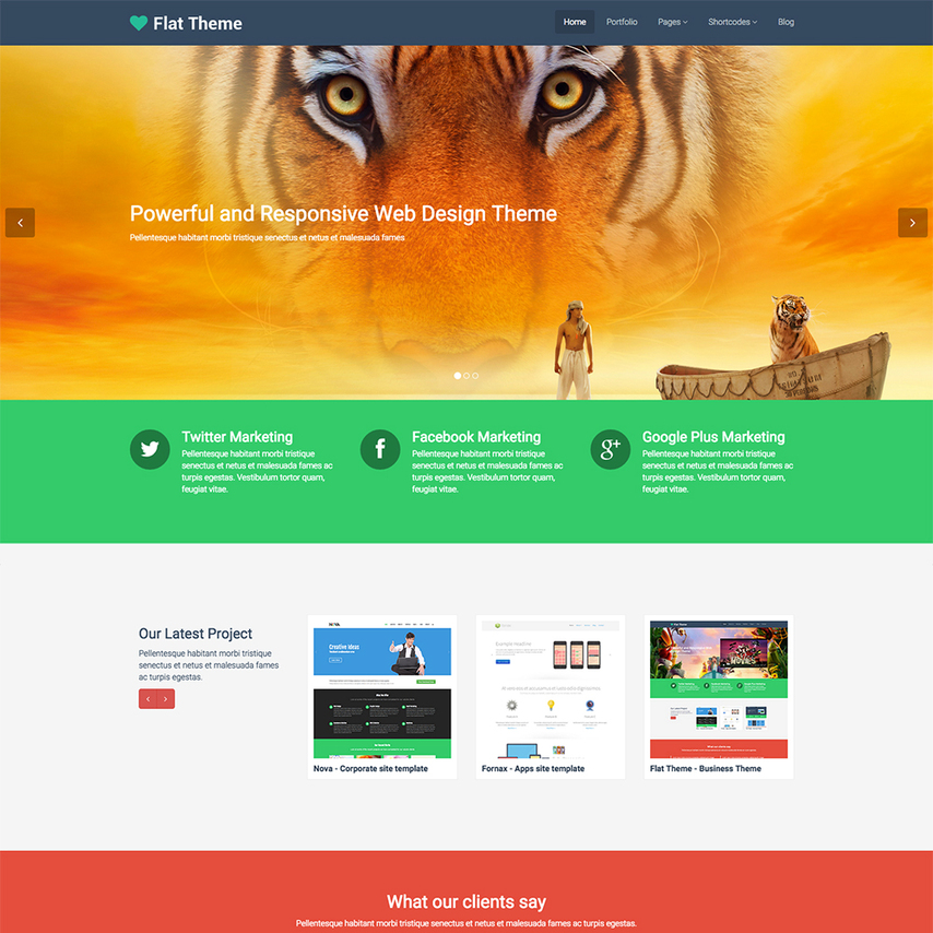 flat product service free responsive wordpress theme