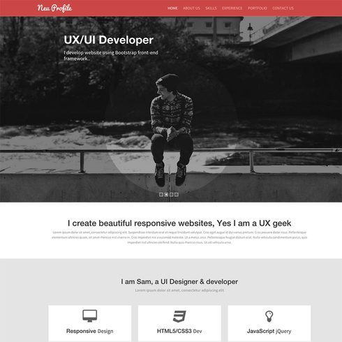 Neu Profile - A Free Responsive Bootstrap Website Template