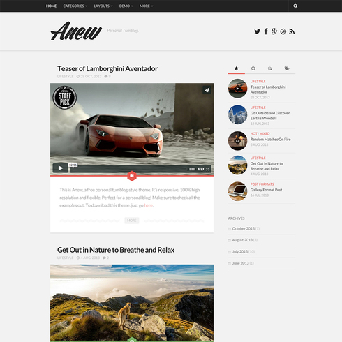 Gray Anex - Free Responsive Wordpress Theme