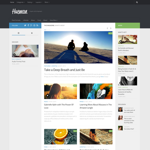 Hueman - Free Responsive Wordpress Blog Theme