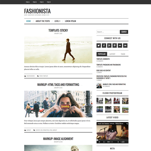 Fashionista Free Responsive Wordpress Theme
