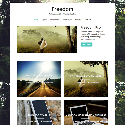 Freedom Free Responsive WordPress Theme