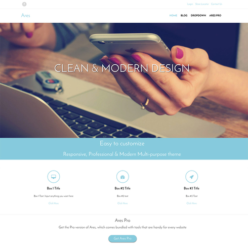 Ares Free Responsive WordPress Theme