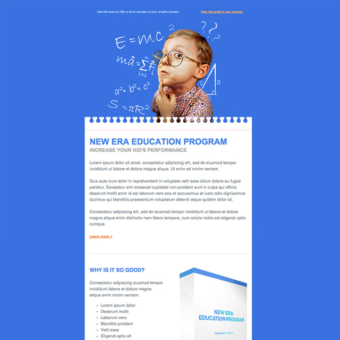 Education Responsive Email Newsletter Template
