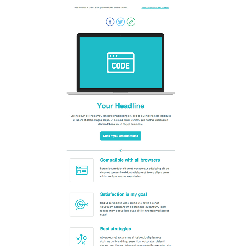 product introduction email template - product launch free responsive email newsletter template