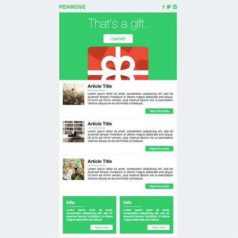 Penrose Free Responsive Email Template - Email ad template