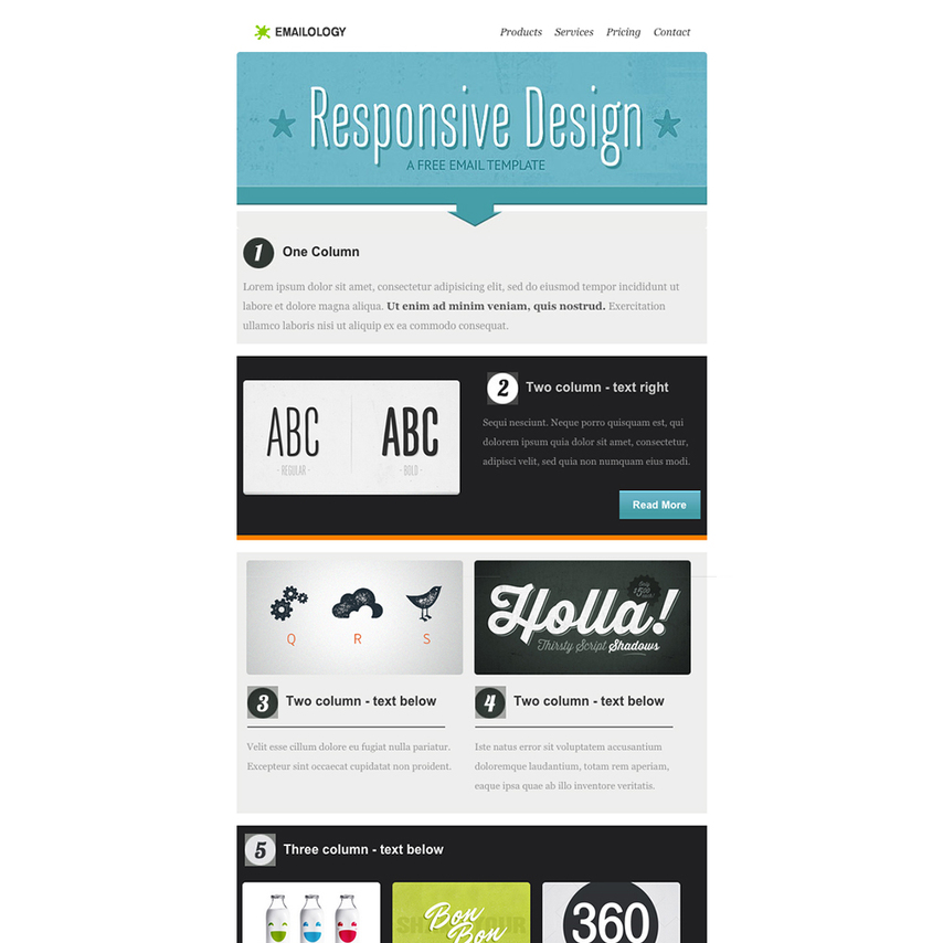 Emailology free responsive email template for How to make a responsive email template