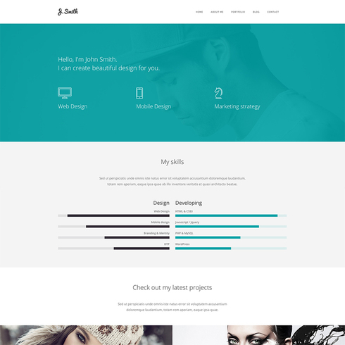 Web Designer Portfolio Website Template