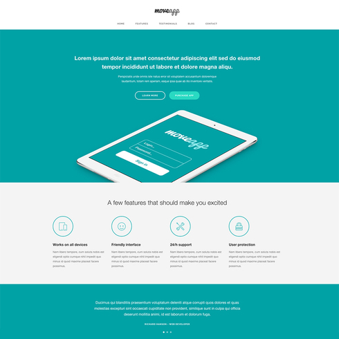 Free Responsive App Website Template