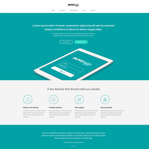 Free responsive app website template maxwellsz