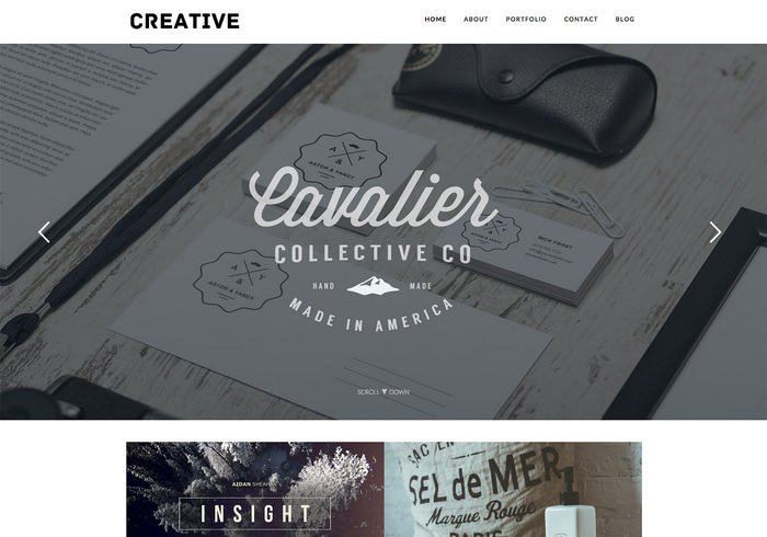 Free Creative Portfolio Blog Wordpress Theme