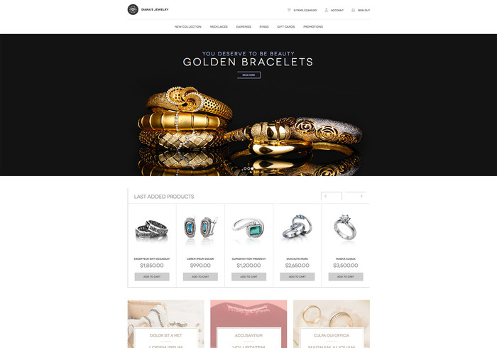 Dianas Jewelry Responsive Wordpress Theme Free Website Templates - Website templates wordpress