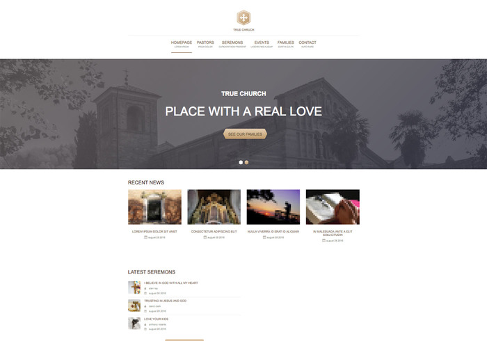 Themezy True Church Free Responsive Wordpress Theme