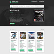Ecommerce Video Games Responsive Template