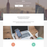 Free Alpha Responsive Website Template