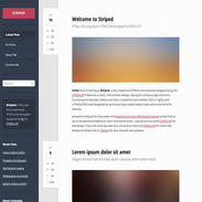 Striped Responsive Template