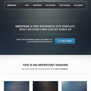 Zerofour Responsive Website Template