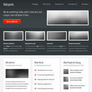 Halcyonic Responsive Website Template