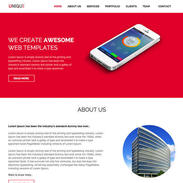 Unique Free Responsive Website Template