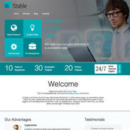 Stable-responsive-website-template