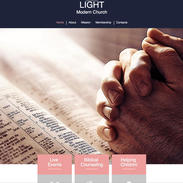 Modern Church Website Template