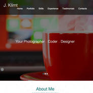 One Page CV Website Template
