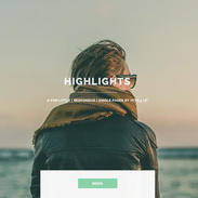 Highlights Single Page Responsive Website Template