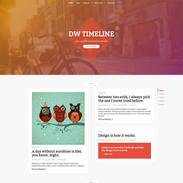 Colorful Timeline Free Responsive Wordpress Theme