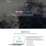 Worthy - A Free Responsive Bootstrap Template