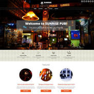 Sunrise Pub - Free Responsive WordPress Theme