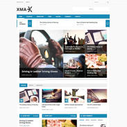 Xmax Free Responsive Blog Wordpress Theme