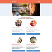 Modern Orange Free Responsive Email Template